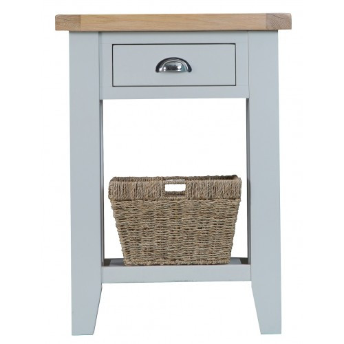 ARBETTA (TT-TEL) TELEPHONE TABLE WITH DRAWER - TWO TONE
