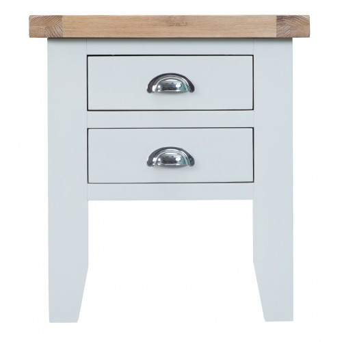 ARBETTA (TT-LT) LAMP / BEDSIDE TABLE WITH 2 DRAWERS  - TWO TONE