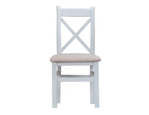 ARBETTA (TT-CBCF) CROSS BACK FABRIC SEAT DINING CHAIR - TWO TONE
