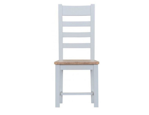 ARBETTA (TT-CH) LADDER BACK WOODEN SEAT DINING CHAIR  - TWO TONE