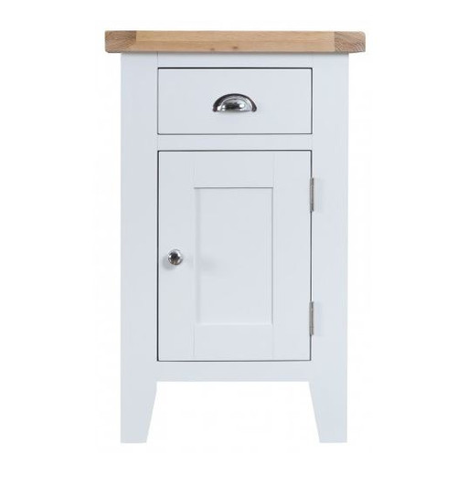 ARBETTA (TT-SCUP) SMALL CUPBOARD WITH 1 DOOR & DRAWER - TWO TONE