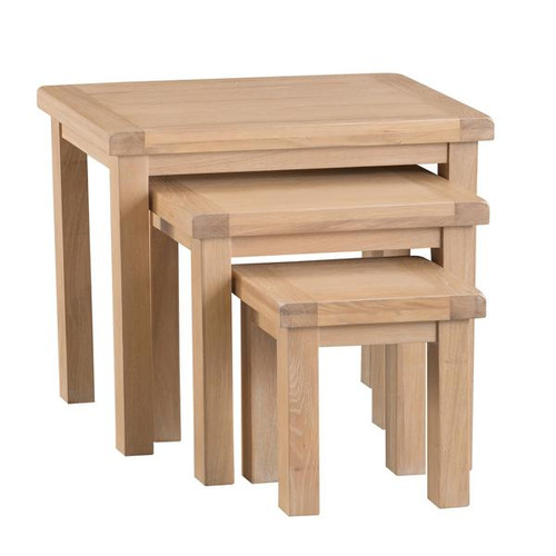 DOVIA (LO-N3T) NEST OF 3 TABLES  - WASHED OAK