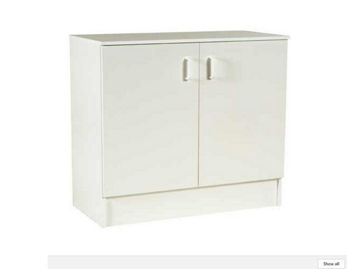 SQUARE EDGE (WC600) 2 DOOR WALL CABINET - 720(H) x 600(W) - WHITE OR BEECH