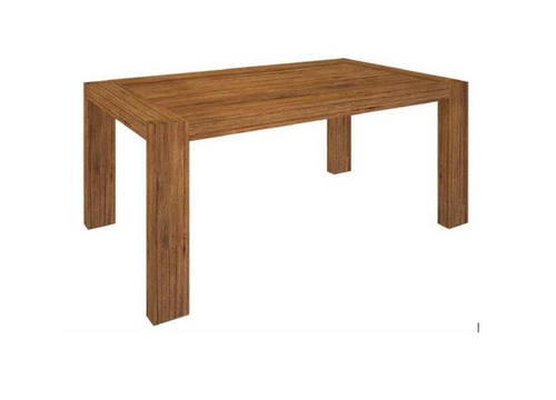 ALPINE HARDWOOD TIMBER DINING TABLE ONLY - 2100(L) x 1000(W) - GOLDEN WALNUT