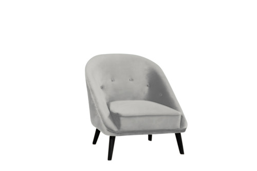 MAYFAIR   ACCENT VELVET FABRIC SOFA   CHAIR -  SOFT GREY
