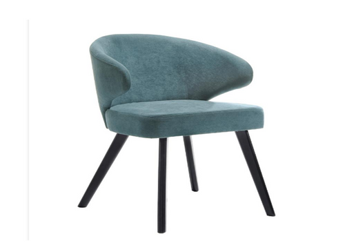 ANNIKA  DINING CHAIR  SEAT: 450(H) -  TEAL + BLACK
