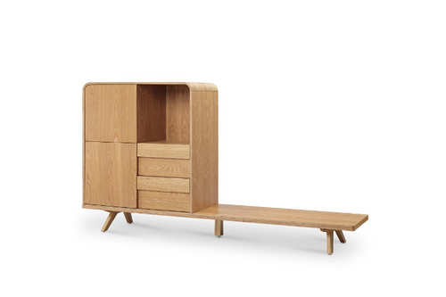 FINELY  TV UNIT WITH  STORAGE -  ASH