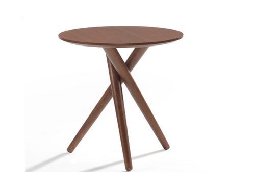 BODIE SIDE   TABLE  380(DIA) -WALNUT
