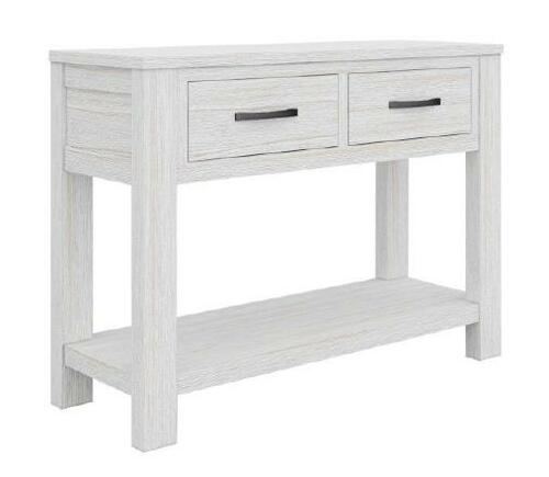 MILDRED  1100(W)  HALLWAY CONSOLE TABLE WITH 2  DRAWERS   (6-12-15-9-14-1)  - WHITE WASH