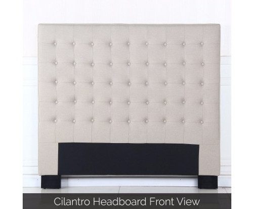 CILANTRO DOUBLE FABRIC BEDHEAD - BEIGE