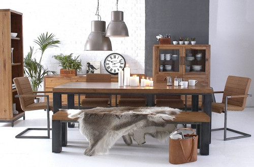 CIENNA 5 PIECE DINING SETTING WITH 1000(L) X 1000(W) TABLE & 4 CHAIRS - BLACK / OAK