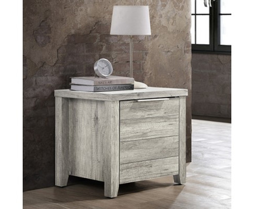 ALICEY  DRAWER BEDSIDE TABLE (V43-BST-ALCWHA) -  WHITE ASH