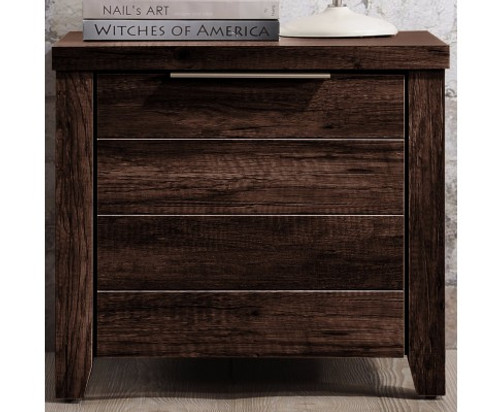 ALICEY  DRAWER BEDSIDE TABLE (V43-BST-ALCWNG) -  WHITE ASH