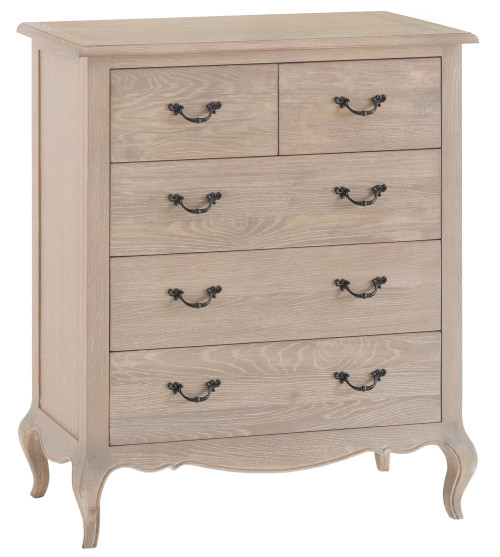 FABIAN 5 DRAWER OAK TALLBOY (FR-2O3) - NATURAL