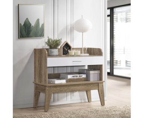 NEOLEEN HALLWAY TABLE (  V80-NB HW9357-OK) - WHITE /OAK
