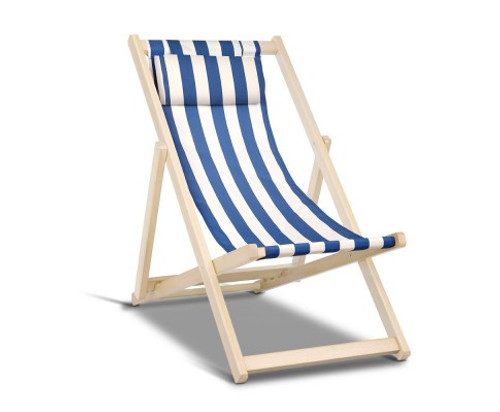 NAIN FOLDABLE BEACH SLING CHAIR - AS PICTURED