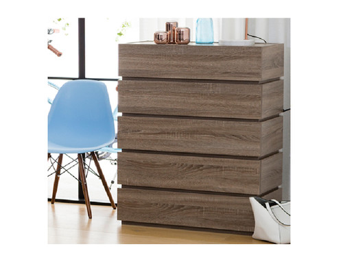CUBIST 750(W)  TALLBOY CHEST -  1150(H) X 750(W)- WHITE(NOT AS PICTURED)