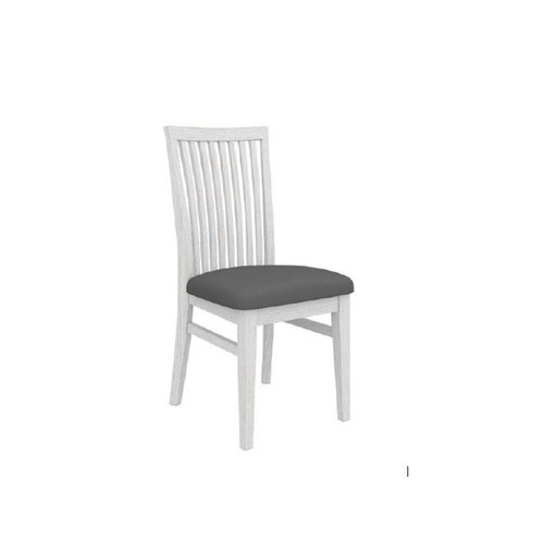 MILDRED SOLID TIMBER DINING CHAIR - (6-12-15-9-14-1) - WHITE WASH