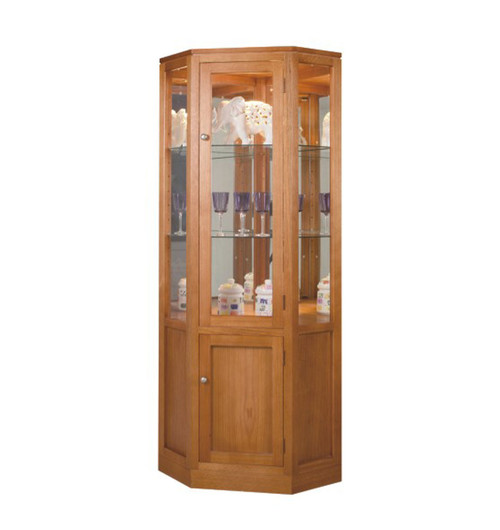 TASSIE OAK (ML) CORNER DISPLAY UNIT - 650(W) - ASSORTED COLOURS AVAILABLE