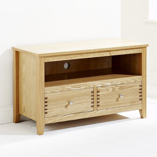 PERFECTION   - OAKLEY 2 DOOR  TV - DVD  UNIT - 900(W)  -  LIGHT OAK