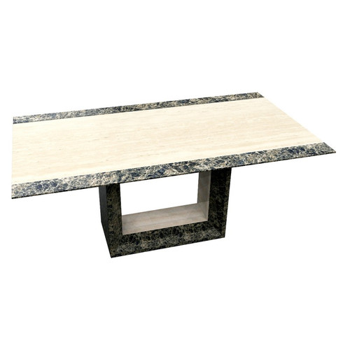 GOBSTEN MARBLE DINING TABLE - 1800(W) - (MODEL:9102)  - AS PICTURED