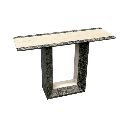 GOBSTEN MARBLE CONSOLE - HALLWAY TABLE - (MODEL: 9102)  -  2 TONE