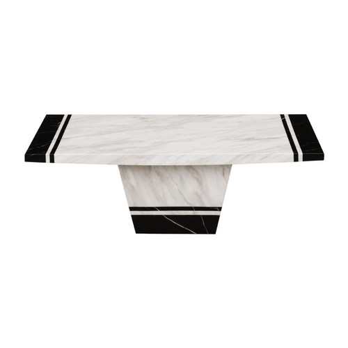 MARCOS  MARBLE  COFFEE  TABLE - (MODEL: 9104)  - 1250(W) x  700(D)- 2 TONE