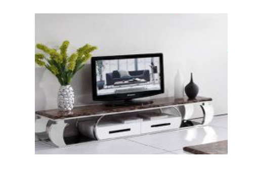 DEEWEE TV UNIT - (MODEL-802) - BROWN MARBLE FINISH - 2000(W) - 1 ONLY BARTERCARD SPECIAL - FLOOR MODEL - READY TO GO