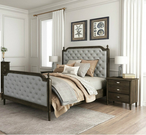 COSLENE QUEEN 3 PIECE BEDSIDE  BEDROOM SUITE - (16-18-1-7-21-5)  - AS PICTURED