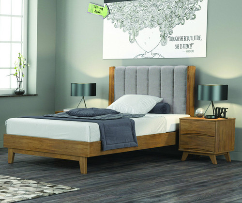 AMALIE  QUEEN  3 PIECE (BEDSIDE  ) BEDROOM SUITE  - AS PICTURED