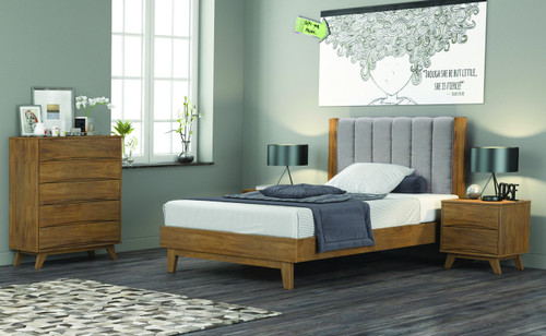 AMALIE  QUEEN  4 PIECE (TALLBOY ) BEDROOM SUITE  - AS PICTURED