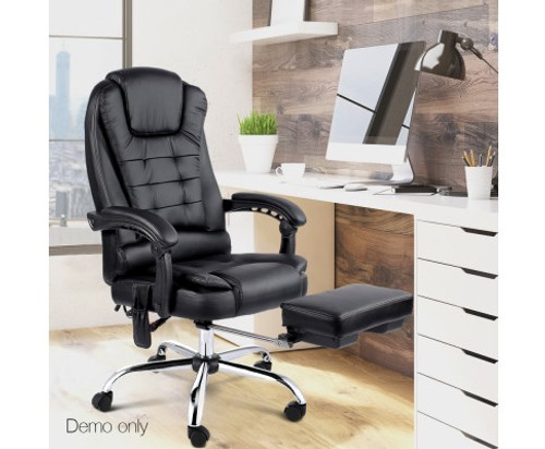 COMBO EXECUTIVE 8 POINT MESSAGE RECLINER CHAIR   - BLACK