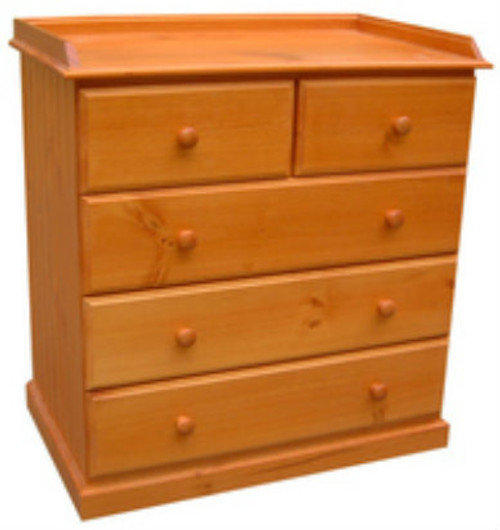BABY CHANGE TABLE 5 DRAWERS 940(H) X 900(W) - ASSORTED COLOURS AVAILABLE