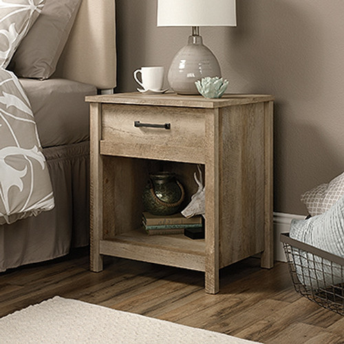 CANNERY BRIDGE  1 DRAWER BEDSIDE TABLE  - LINTEL OAK FINISH