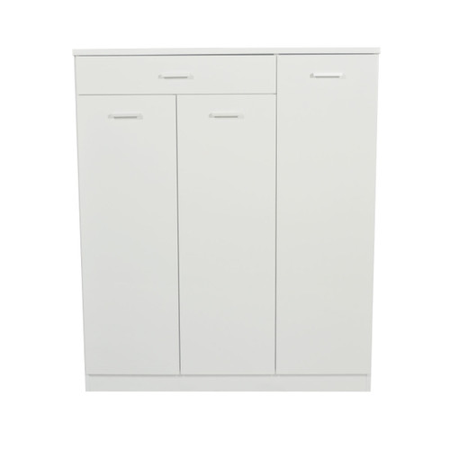 ADRIAN  3 DOOR SHOE CABINET - GLOSS WHITE