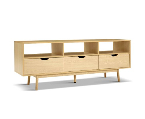 ETINA SCANDINAVIAN ENTERTAINMENT UNIT WITH 3 DRAWERS - NATURAL