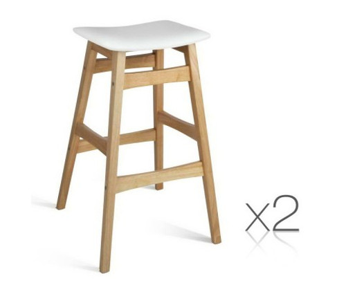 FERMIE SET OF 2 STACK-ABLE BAR STOOL -  2 TONE
