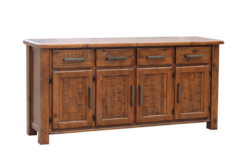 CARGO  1820(W) SOLID TIMBER SIDEBOARD BUFFET WITH 4 DOORS & 4 DRAWERS -     - COUNTRY RUSTIC