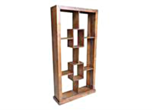 BOOKCASE / ROOM DIVIDER + 2 BOX IN THE MIDDLE - 2000(H) X 1000(W) - ASSORTED COLOURS