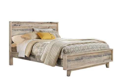DOUBLE WOODSTOCK SOLID TIMBER BED  - DRIFTWOOD