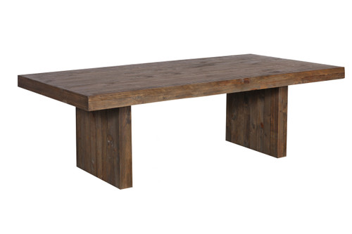 MELROSE  SOLID TIMBER  DINING TABLE - 1800(L)  X  1000 - AGED PIER