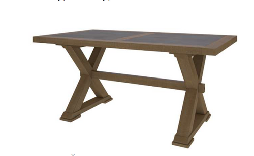 COTTAGE BILLABONG DINING TABLE - 2400(L) X 1100(W)- COLOUR AS PICTURED
