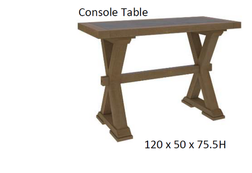 COTTAGE BILLABONG  CONSOLE  TABLE - 760(H) X 1200(W)- COLOUR AS PICTURED