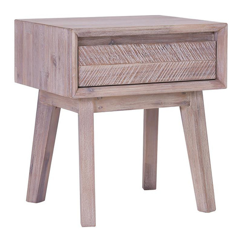 MADRID  BEDSIDE TABLE WITH 1 DRAWER   - UNEVEN DISTRESS COLOUR