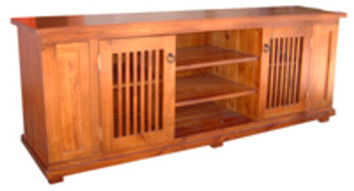 MANILLA LOWLINE TV UNIT WITH DOUBLE DVD/CD PULLOUTS - 1900(W) - ASSORTED COLOURS AVAILABLE