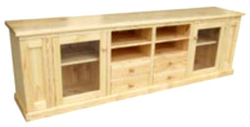 SPECIAL LOWLINE TV UNIT WITH 4 DRAWERS & 2 DOORS - 2600(W) - ASSORTED COLOURS AVAILABLE