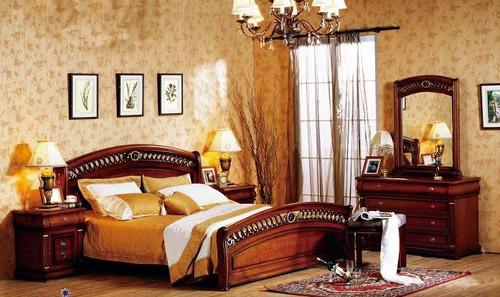 BONAPARTE QUEEN 5 PIECE DRESSER BEDROOM SUITE - AGED WALNUT