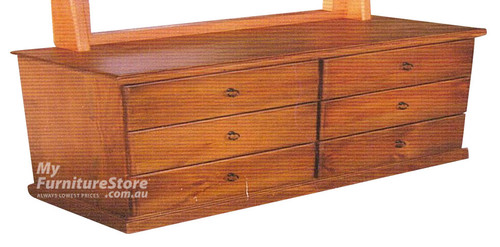 NY LOWBOY 6 DRAWER - CHOICE OF COLOURS