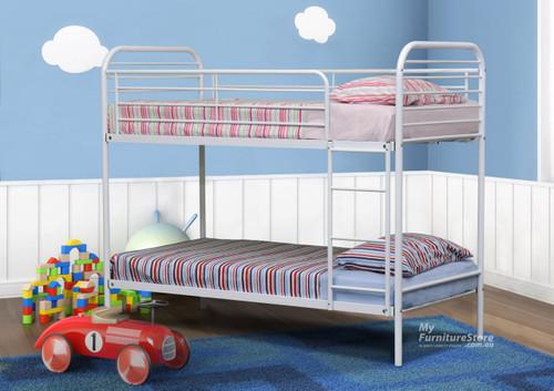 SINGLE CAMDEN BUNK BED - WHITE