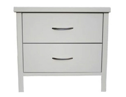 DALBY 2 DRAWER BEDSIDE - WHITE